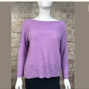 Eileen Fisher Sweater Petite Large Lilac Long Slv